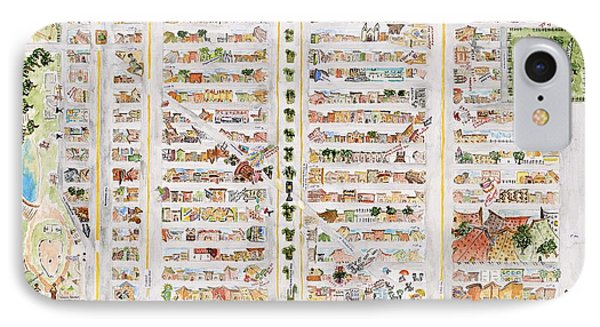 The Harlem Map IPhone Case by AFineLyne