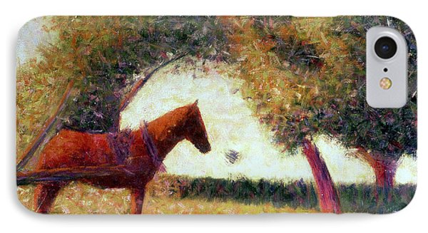 The Harnessed Horse IPhone Case by Georges Pierre Seurat