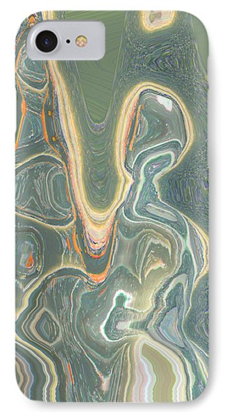 IPhone Case featuring the digital art The Harp Player by Lenore Senior