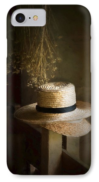 IPhone Case featuring the photograph The Harvester's Hat by Robin-Lee Vieira