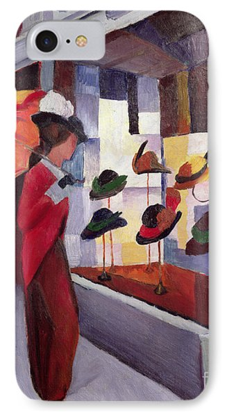The Hat Shop Phone Case by August Macke