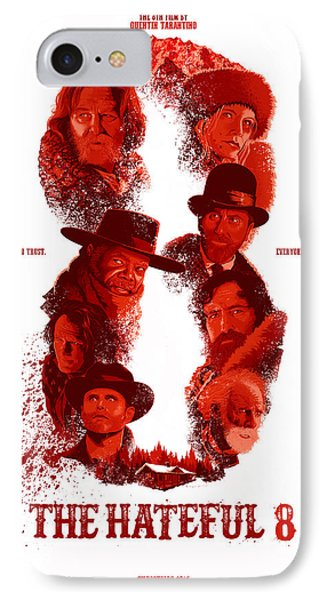 The Hateful 8 Alternative Poster IPhone Case by Christopher Ables