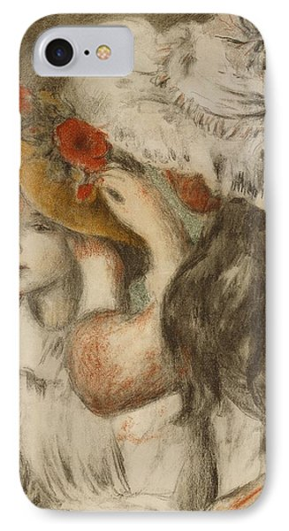 The Hatpin IPhone Case by  Pierre Auguste Renoir
