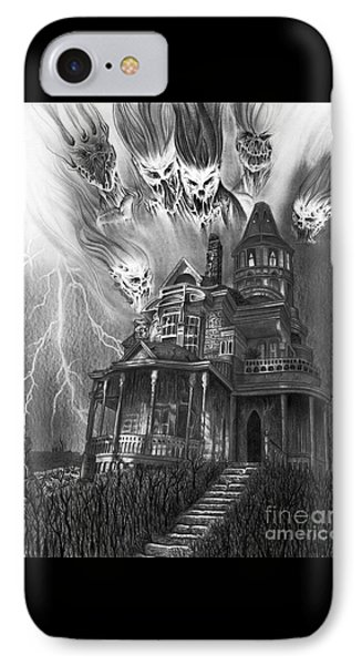 The Haunted House IPhone Case by Wave Art