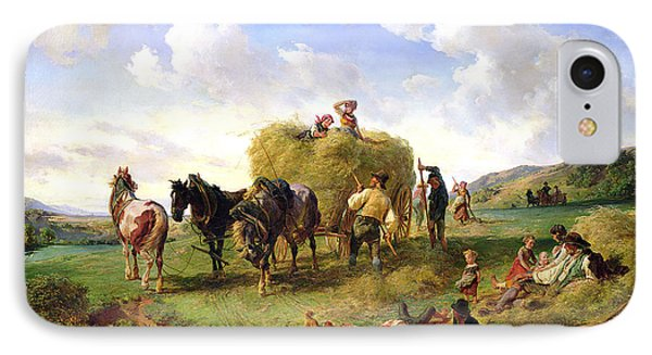 The Hay Harvest Phone Case by Hermann Kauffmann