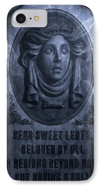 The Headstone Of Madame Leota IPhone Case by Mark Andrew Thomas