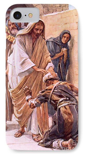The Healing Of The Leper IPhone Case by Harold Copping