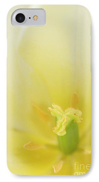 The Heart Of A Tulip IPhone Case by Anne Gilbert