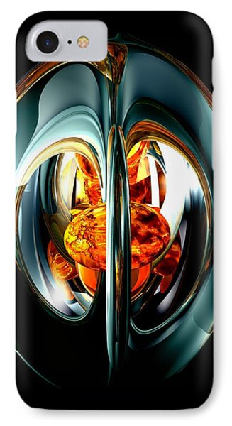 The Heart Of Chaos Abstract Phone Case by Alexander Butler