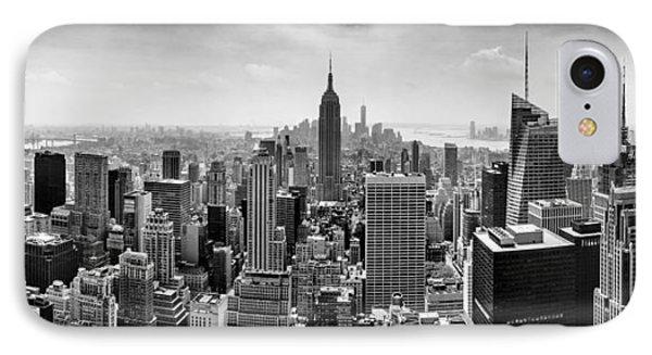New York City Skyline Bw IPhone 7 Case by Az Jackson