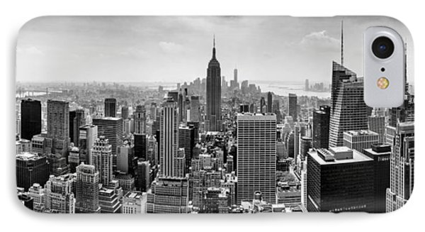 New York City Skyline Bw IPhone Case