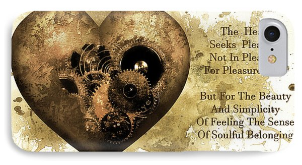 The Heart Seeks Pleasure Sepia Gold Art IPhone Case