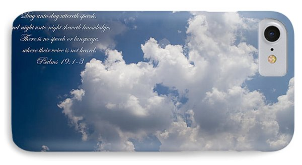 The Heavens Declare The Glory Of God IPhone Case by Kathy Clark