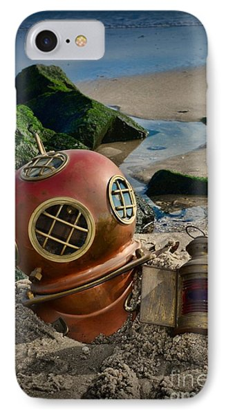 The Helmet And The Lantern IPhone Case by Paul Ward