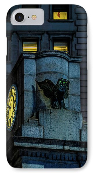 IPhone Case featuring the photograph The Herald Square Owl by Chris Lord