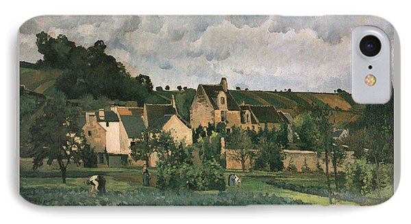 The Hermitage At Pontoise IPhone Case by Camille Pissarro