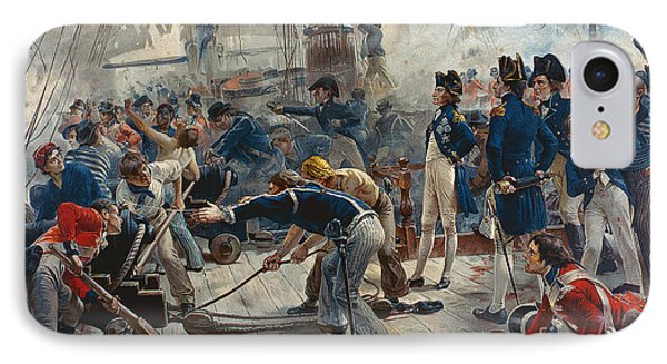 The Hero Of Trafalgar IPhone Case by William Heysham Overend
