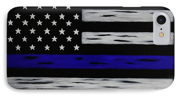 The Heroic Thin Blue Line IPhone Case by Belinda Nagy