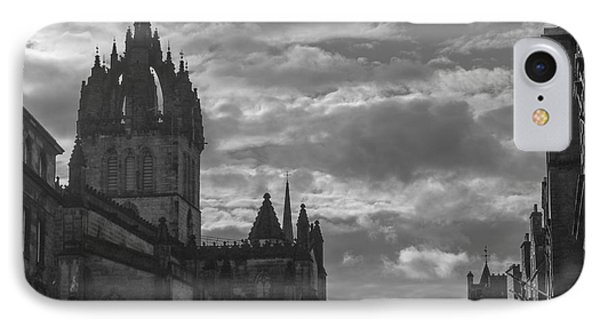 The High Kirk Of Edinburgh IPhone Case by Amy Fearn