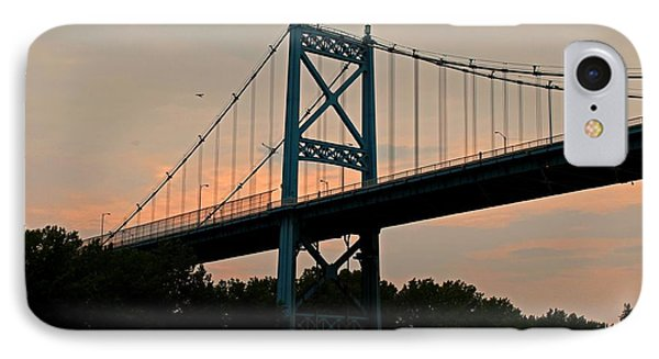 The High Level Aka Anthony Wayne Bridge I IPhone Case by Michiale Schneider