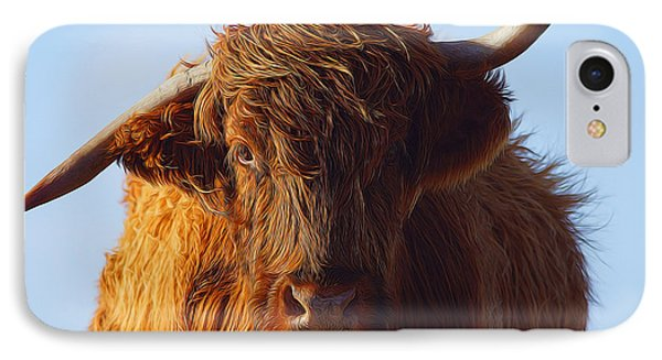 The Highland Cow IPhone Case by Nichola Denny