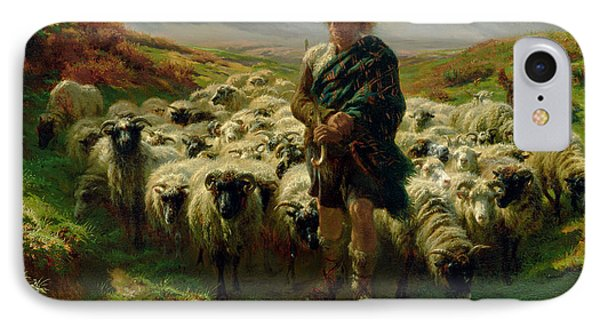 The Highland Shepherd Phone Case by Rosa Bonheur