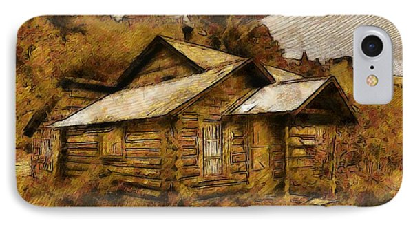 The Hillbilly Cabin IPhone Case by Mario Carini