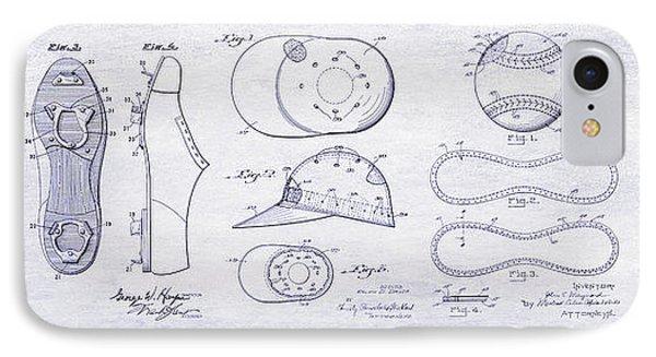 The History Of Baseball Patents Blueprint IPhone Case by Jon Neidert