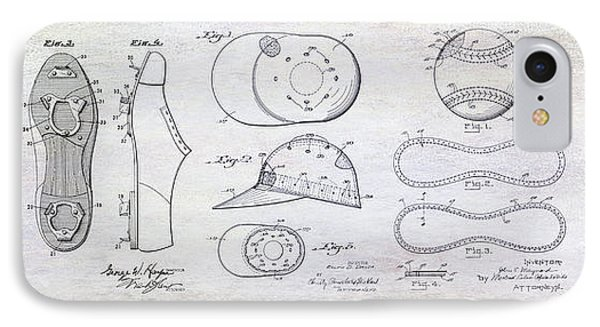 The History Of Baseball Patents IPhone Case by Jon Neidert