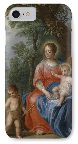 The Holy Family With John The Baptist And The Lamb IPhone Case by Jan Brueghel the Younger