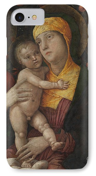 The Holy Family With Saint Mary Magdalene IPhone Case by Andrea Mantegna