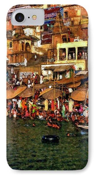 The Holy Ganges Impasto Phone Case by Steve Harrington