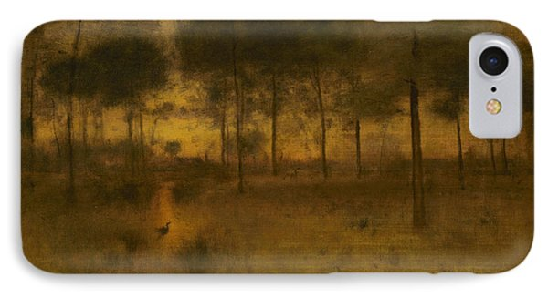 The Home Of The Heron IPhone Case by George Inness