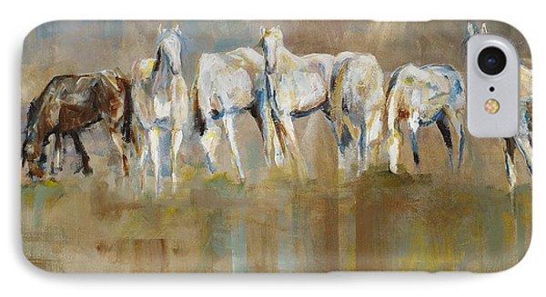 Horse iPhone 7 Case - The Horizon Line by Frances Marino