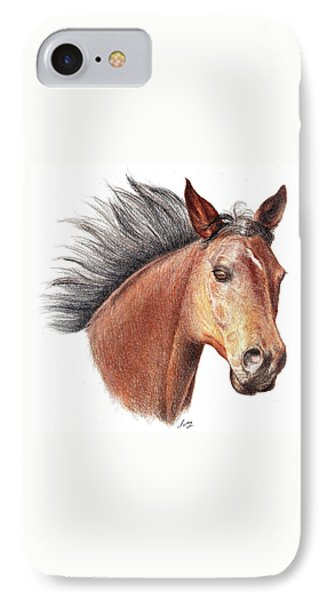 The Horse IPhone Case by Mike Ivey