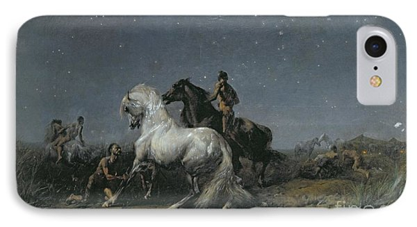The Horse Thieves IPhone Case by Ferdinand Victor Eugene Delacroix