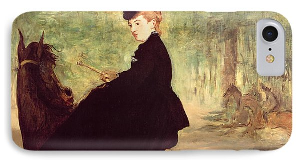 The Horsewoman IPhone Case by Edouard Manet