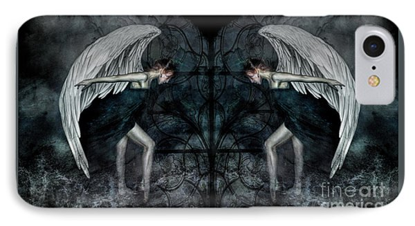 The Hosts Of Seraphim IPhone Case by Spokenin RED