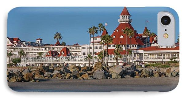 The Hotel Del Coronado IPhone Case by Robert Bellomy