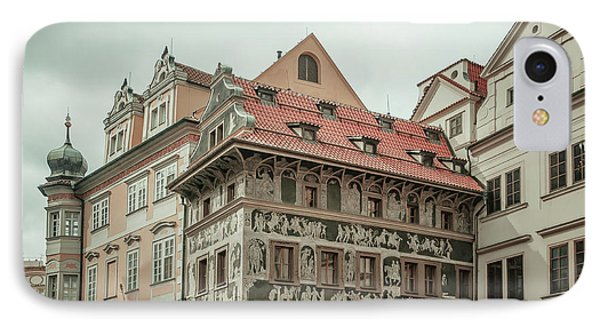 IPhone Case featuring the photograph The House At The Minute With Graffiti At Old Town Square  by Jenny Rainbow