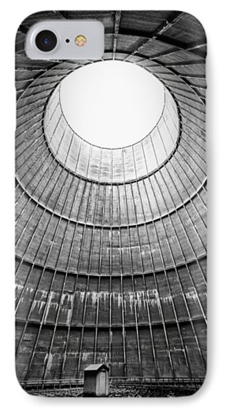 The House Inside The Cooling Tower - Industrial Decay IPhone Case by Dirk Ercken