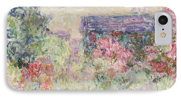 The House Through The Roses IPhone Case by Claude Monet