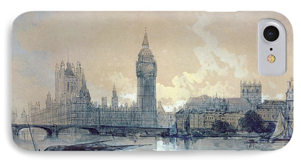 The Houses Of Parliament IPhone Case by David Roberts