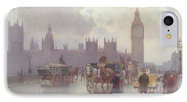 The Houses Of Parliament From Westminster Bridge IPhone 7 Case by Alberto Pisa