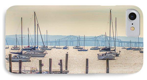 The Hudson River Near The Tappan Zee Bridge IPhone Case by Bill Cannon