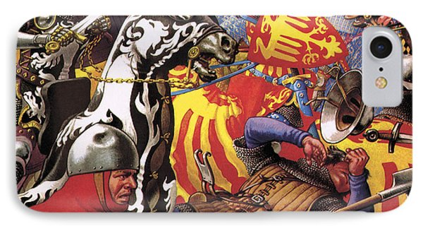 The Hundred Years War  The Struggle For A Crown IPhone Case by Pat Nicolle