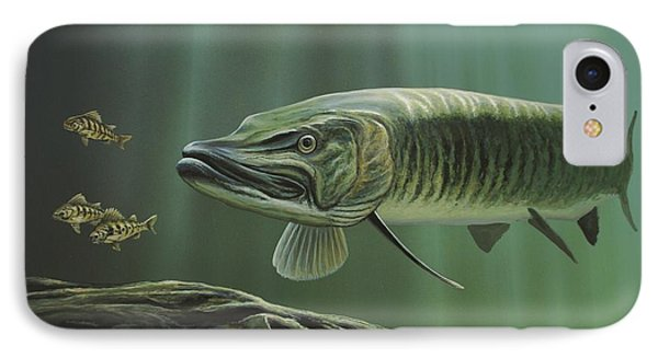 The Hunter - Musky IPhone Case by Anthony J Padgett