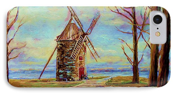 The Ile Perrot Windmill Moulin Ile Perrot Quebec Phone Case by Carole Spandau