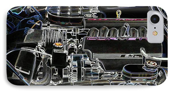 The Image Of A Car Engine Compartment IPhone Case by Lanjee Chee