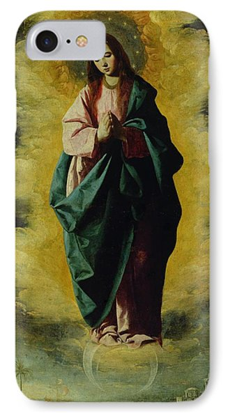 The Immaculate Conception Phone Case by Francisco de Zurbaran